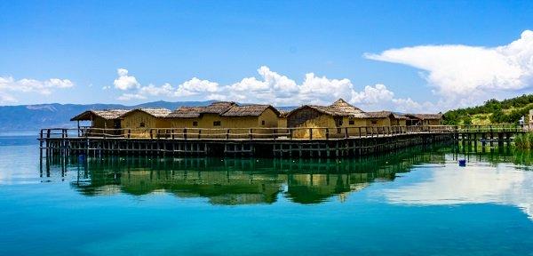 Baai der Botten Museum op het water Ohrid